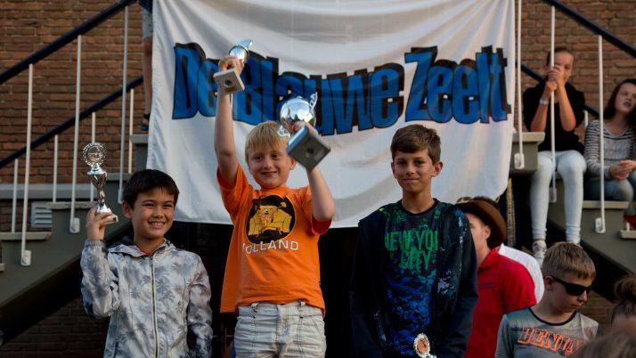 Daan won met zijn 168 cm ook de Woutje Brugge wisselbeker Vissen.